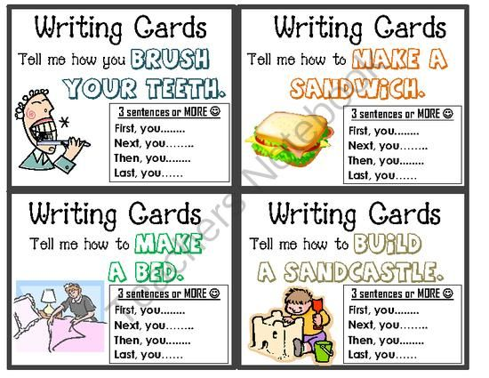 "Work on Writing Cards - 5th set - ""How-To"" and Months of the Year from First Grade Fun Times on TeachersNotebook.com -  (6 pages)  - Writing Task Cards - How To and Months of the Year"
