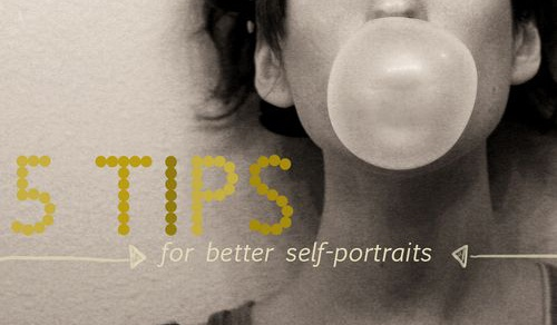5 tips for better self portraits : abeautifulmess.typepad.com