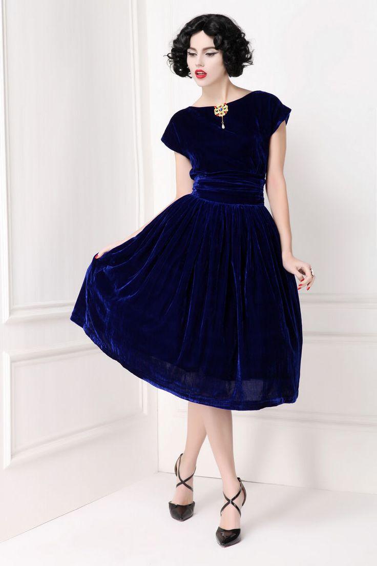 Short- Sleeved oversized velvet Slim women party dress TE018 plus1x-10x(SZ16-52)