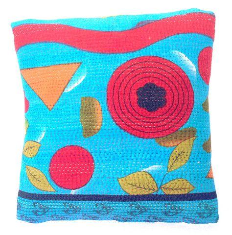 Basha Summertime Kantha Cushion