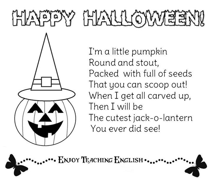 Shel Silverstein Halloween: 17 Best Ideas About Halloween Poems For Kids On Pinterest