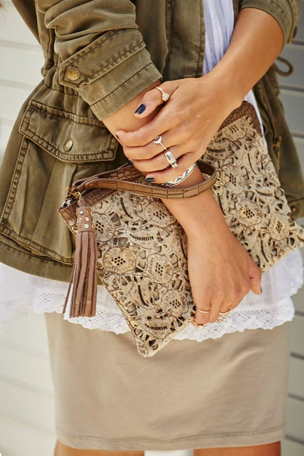 Oversized statement. Laser-cut details are so clutch.