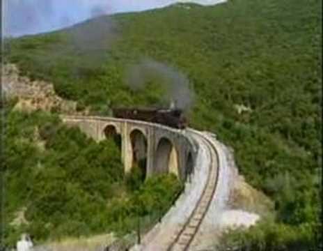 Greek Pelion railway video