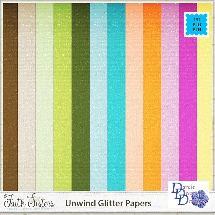 Unwind Glitter Papers