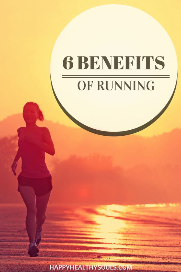 Try to decide between running and another form of exercise? Then you need to check out our article on the 6 Benefits of Running! // www.happyhealthysouls.com #running #happyhealthysouls #fitness #health