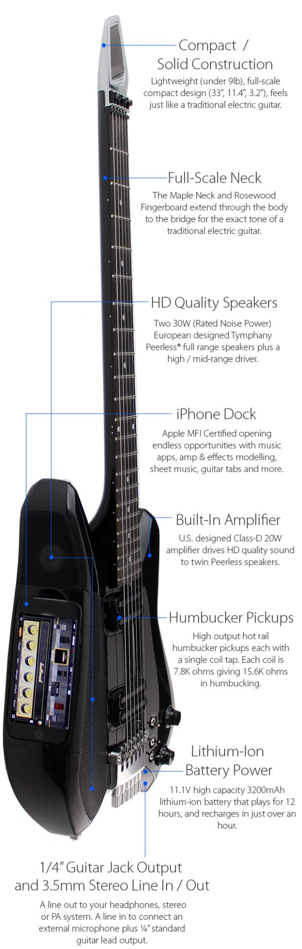 1000 images about guitar design ideas acoustic fusion guitar integrated iphone just change digital recording forever