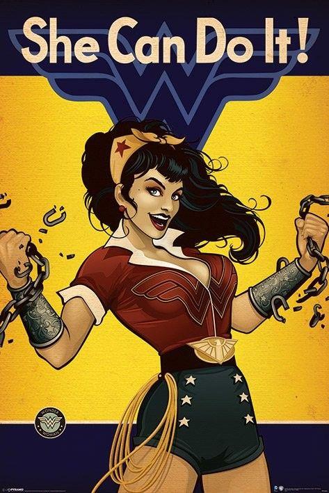 DC Comics - Wonder Woman - She Can Do It!  Poster, Affiche   Acheter-le sur Europosters.fr