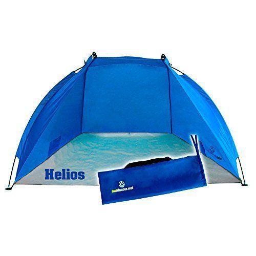 Outdoorer Tienda de Playa Helios, azul, UV 60, extra ligera, pack mini