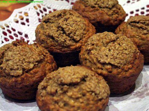 Muffins de avena y puré de manzana