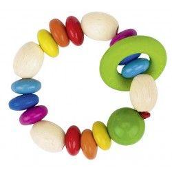 Hračka do ruky - duhové perličky s kroužkem