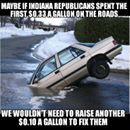 Rather than fix the budget problems for the past... or *gasp* reduce pending in other areas, the IN #GOP take the easy road and raise taxes.Libertarian Party of Indiana