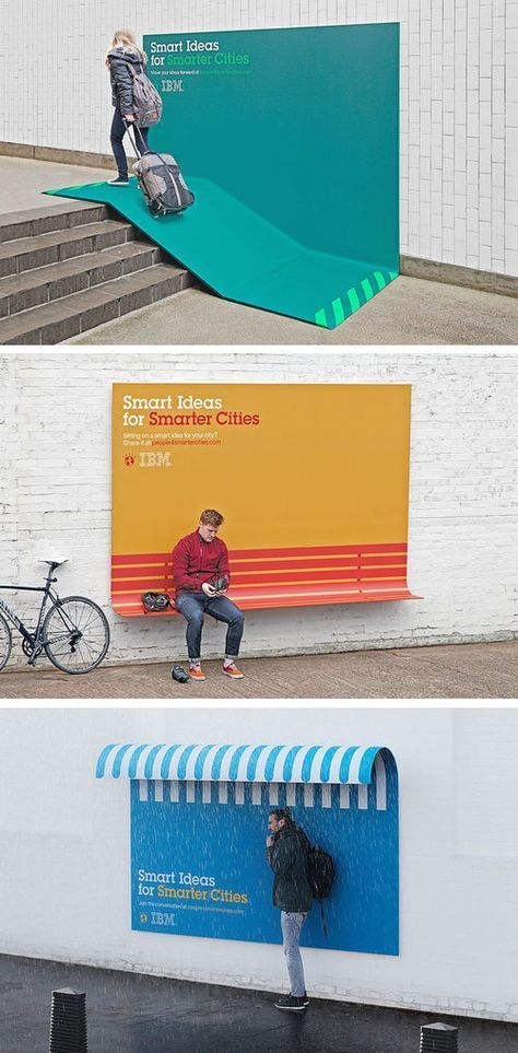Smart ideas for Smarter cities #graphic design, its like advertising, bench and bus shelter , hello huge advertising opportunities: