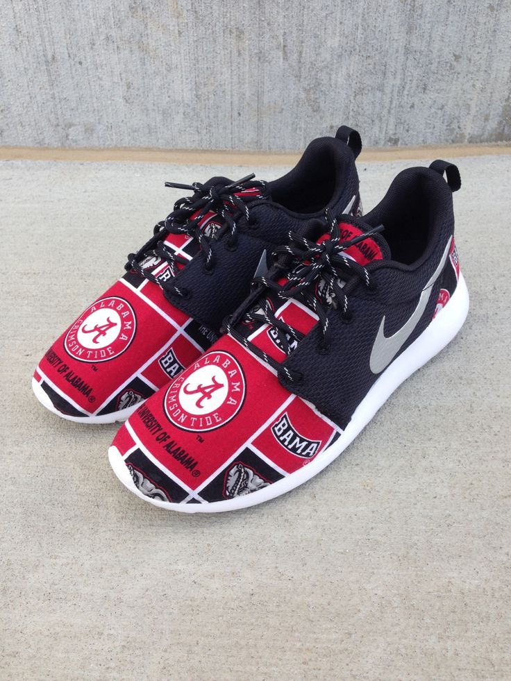 "Custom Nike Roshe One ""Alabama Roll Tide"" / Customs x Cario"