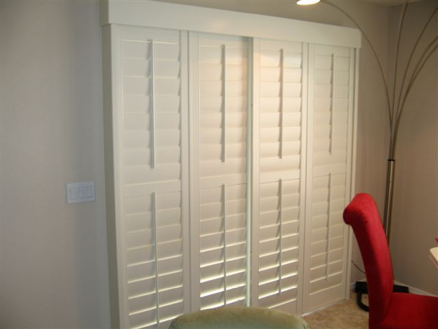 O R A N G E + P E A C H: January 2011   Sliding Shutters Over Sliding Glass  Patio Door.