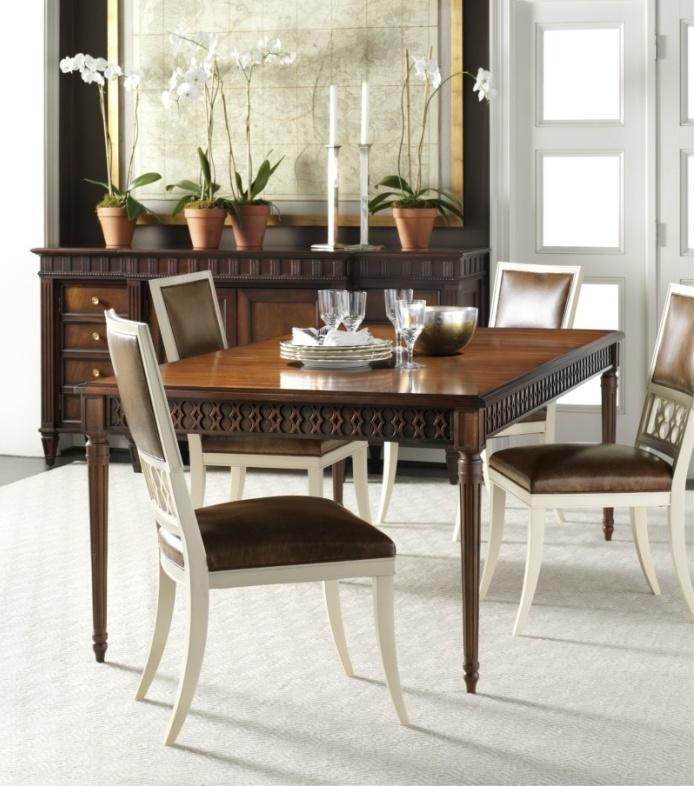 Hickory Chair Dining At Sheffield Furniture U0026 Interiors     Frame For Dining  Room. Gold With Black Side Accent
