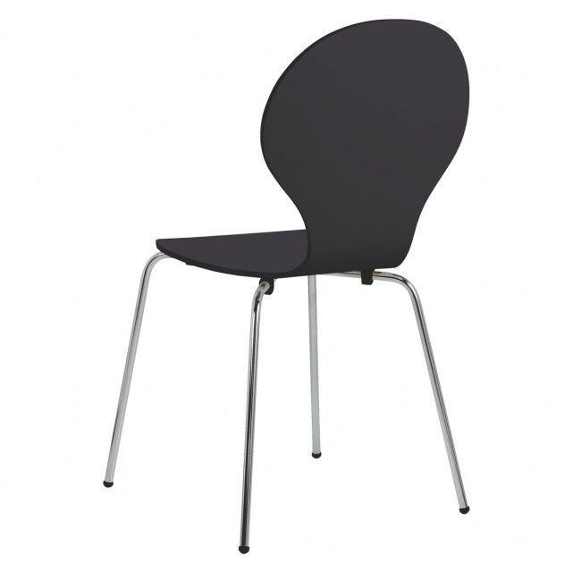 SCOUT Pair of black stackable dining chairs | Buy now at Habitat UK