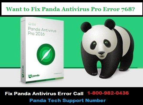 Here in this blog, we have mentioned the causes and step by step guidance to fix Panda Antivirus pro error 768.If Still issue doesn't get fixed call Toll-free Panda Antivirus Support Number 1-800-982-0436