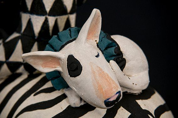 Bull Terrier by Marie Prett - Singing Soul
