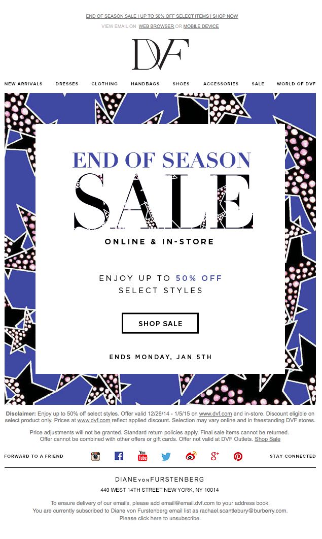 End of Season Sale- Enjoy up to 50% Off!