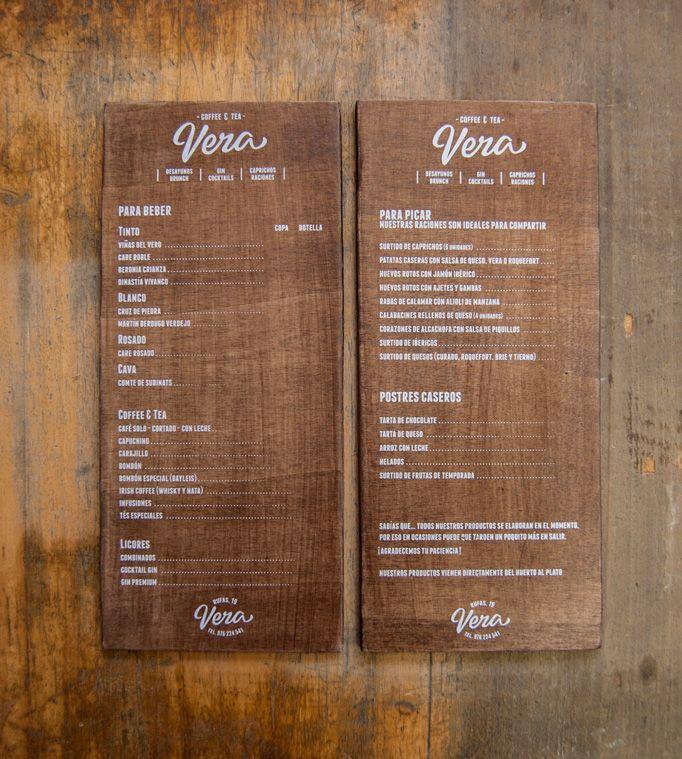 Food Design Ideas: For Vera's Menu El Calotipo Chose Lettering That Best