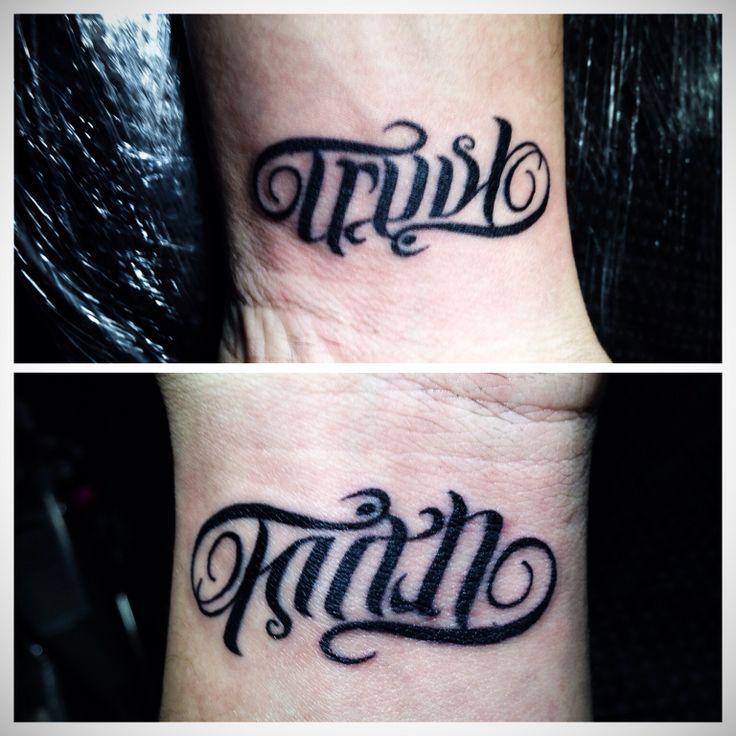 Hands Ambigram Tatoos 3: 27 Best Faith / Trust Tattoo #3 Images On Pinterest