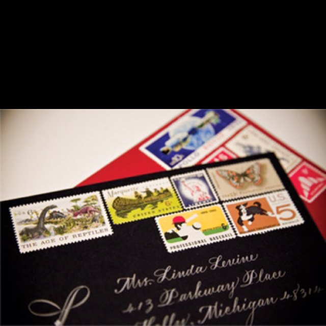 Vintage stamps... Gotta take some calligraphy classes
