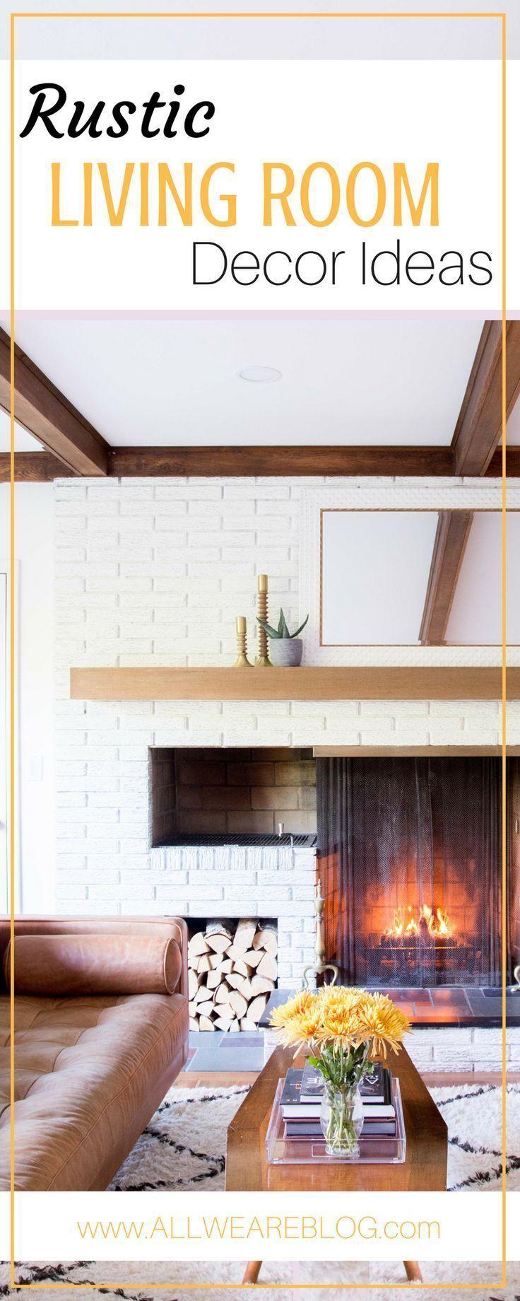 rustic living room ideas on allweareblog.com ...