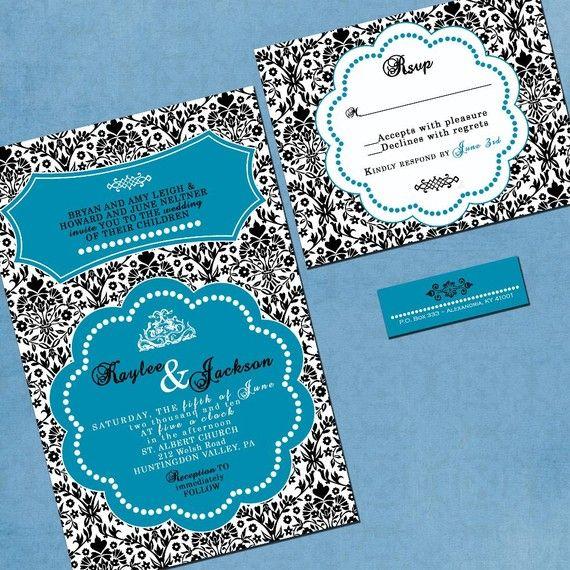Damask Wedding Invitation  Sample Packet by InvitingMoments, $1.00