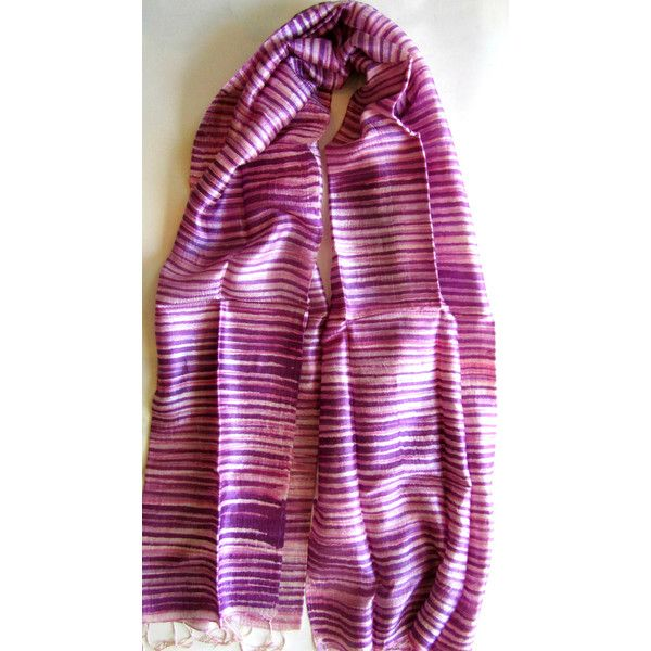 Purple Silk Shawl Hand Dyed Handwoven Batik Handmade Wedding Gift Wedding Accessories Light Weight Silk Shawl Natural Pure Raw Silk For Her (€25) found on Polyvore featuring women's fashion, accessories, scarves, lightweight shawl, pure silk scarves, purple silk scarves, silk scarves and shawl scarves