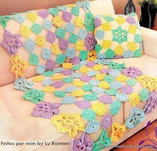 FEITOS POR MIM BY LU RONTANI: Mantas para sofá em crochê com gráfico