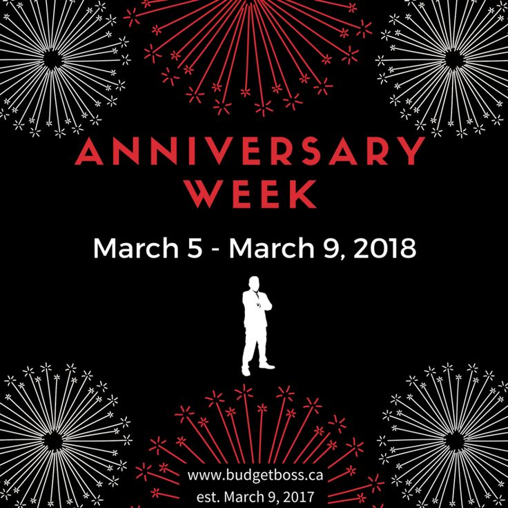 We are in the middle of Anniversary Week at Budget Boss! It has been one year since my website launched and this week will be all about the past year and the years to come. Join us for a celebration of a great year helping people start on the path to financial freedom! #goals #knowledge #wealth #money #budgets #budgetboss #ldnont #financialfreedom #london #toronto #canada #picoftheday #instagram #instagood #beautiful #happybirthday #anniversary #makeithappen