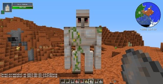 Minecraft Hexxit Iron Golem | Bailey's board | Pinterest ...