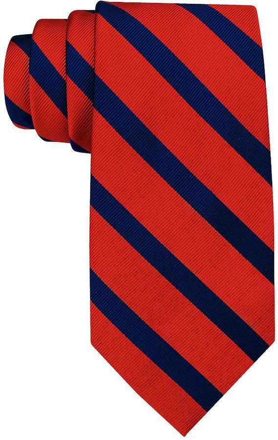 $38, Tommy Hilfiger Vintage Slim Slide Stripe Tie. Sold by Macy's. Click for more info: https://lookastic.com/men/shop_items/47629/redirect