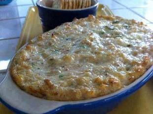 Crab Rangoon Dip Recipe - the more you chop up the crab, the smoother it is to eat.  I may add a bit of finely chopped celery next time...