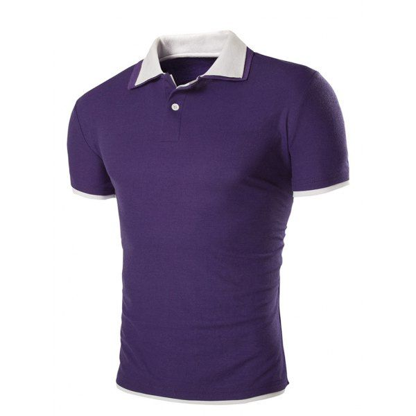 Slimming Men's Short Sleeves Polo Collar T-Shirt #shoes, #jewelry, #women, #men, #hats, #watches, #belts