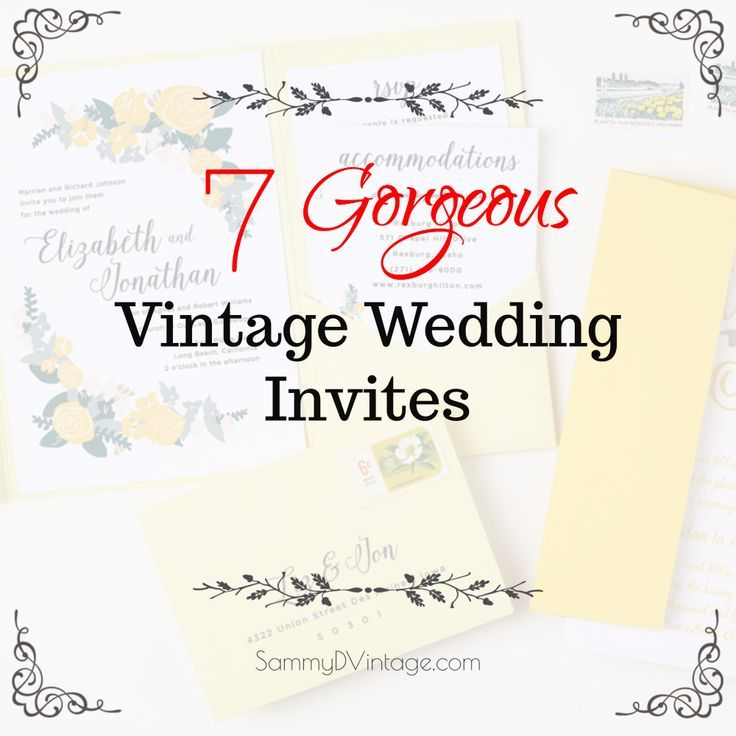 Gorgeous Vintage Wedding Invitation