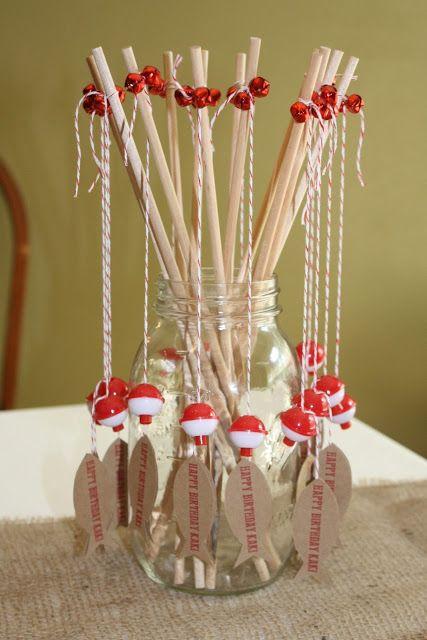 Fish Birthday Party Fishing Poles  Create. Share. Repeat!: Mom's Fishy Birthday Party