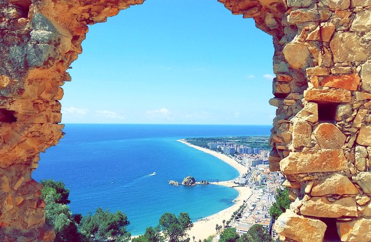 Castell Sant Joan Blanes Catalunya. Beautiful views on the Costa Brava.