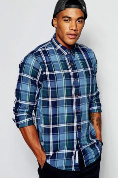 Abercrombie & Fitch Muscle Slim Fit Shirt In Green Madras Check - Green #modasto #giyim #erkek https://modasto.com/abercrombie-fitch/erkek/br21370ct59