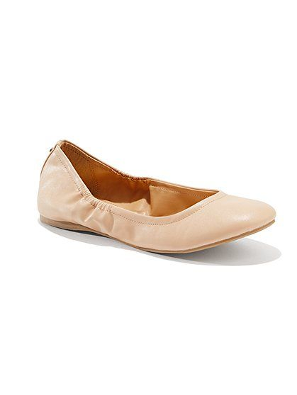 Faux-Leather Ballet Flats - New York & Company