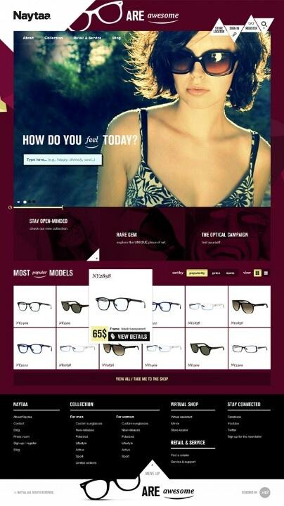 #Webdesign for e-store selling glasses