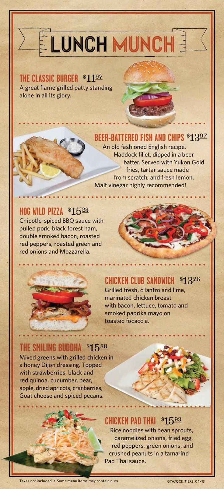 Jack Astor's lunch menu #2