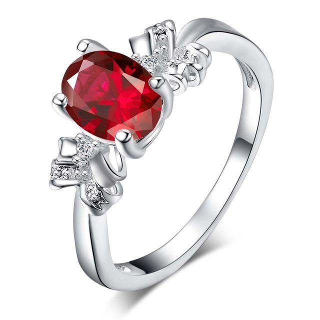 Мода красный циркон Овальные Серебряные позолоченные Кольца Мода Ювелирные Кольца Женщины и Мужчины,/YPZHCZWY AOFCKRHR
