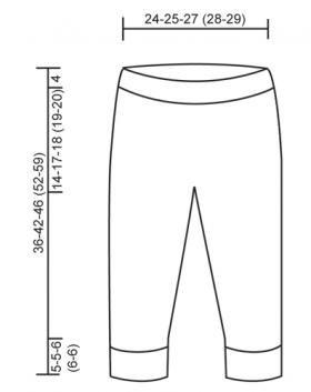 Уютные штаны для малыша - Выкройка 1