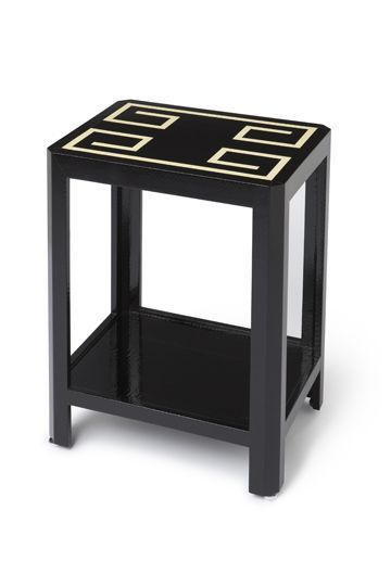 Snake skin wrapped side table from www.chicone.com