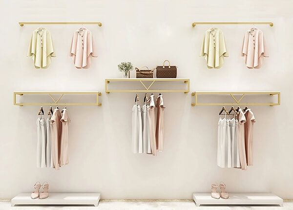 Wall Mounted Clothes Rack With Shelves Retail Clothing Racks Clothing Rack Wall Clothing Rack