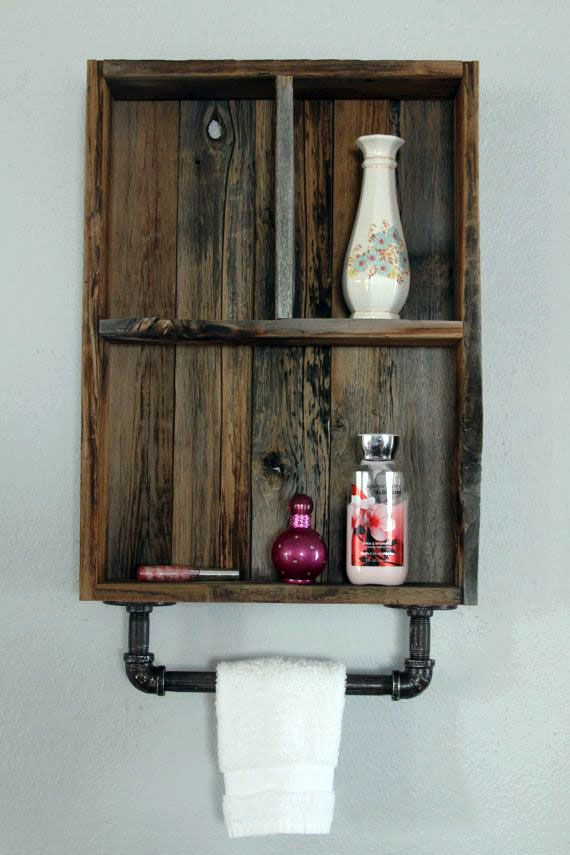Restroom Storage Cabinets That Will Assist You Keep Every Thing Organized Reclaimed Wood Shelves Wood Shelves Bathroom Wall Cabinets