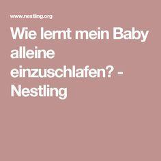 Wie lernt mein Baby alleine einzuschlafen? - Nestling