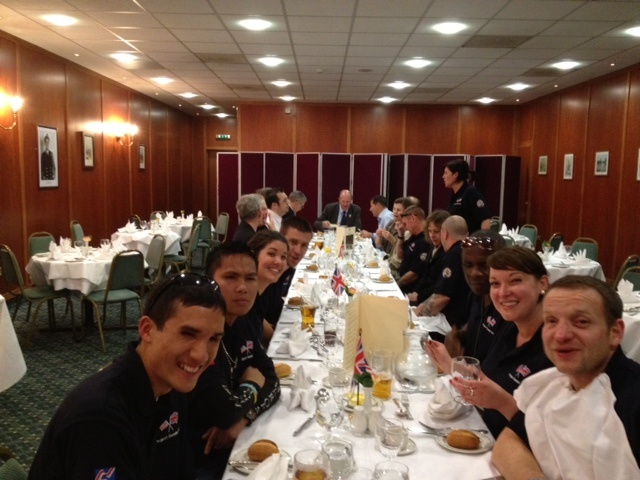 Enjoying dinner at the Union Jack at last years Project Gemini