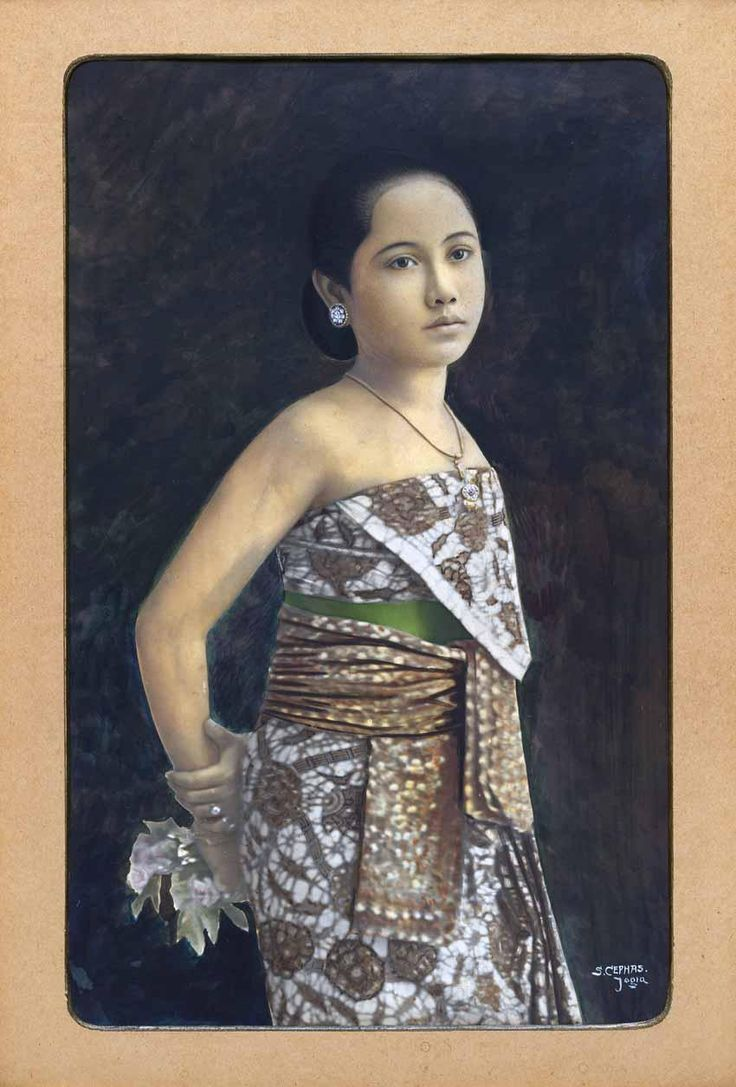 Portrait of a Javanese woman, circa 1900 by Sem Céphas, Indonesia  1870-1918. Gelatin silver photograph, colour pigment, 28.5 x 24 cm gelatin silver photograph, 23 x 17.9 cm.  All images National Gallery of Australia, Canberra, unless stated otherwisepa href=http://asianartnewspaper.com/sites/default/files/articles_additional/Sem%20Cephas%20Javanese%20Woman.jpgDownload Original/a/p
